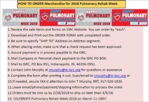 PR week order instructions - 2018