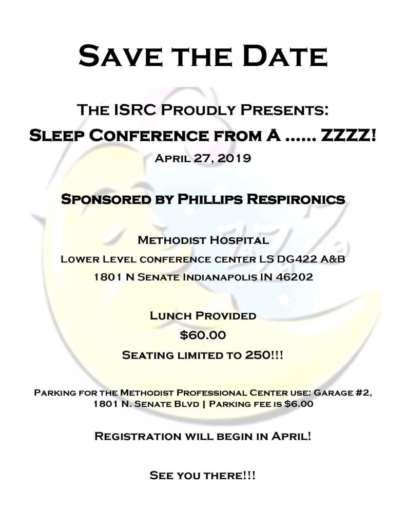 Save the Date Sleep Conference - 2019